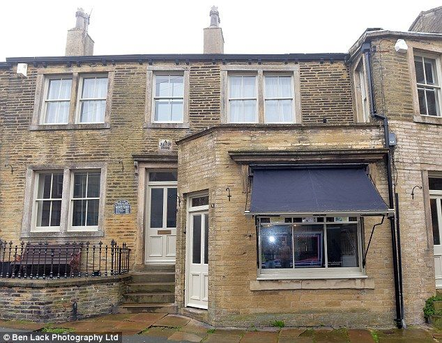 Literary heritage: The three-bedroom cottage in the West Yorkshire village of Thornton was once home to the Bronte family. Patrick Bronte, his wife Maria and their first two children, Maria and Elizabeth moved there in 1815 and it is where Charlotte, Emily and Anne and Bramwell were all delivered in front of the fireplace in 1816, 1818, 1820 and 1817 respectively