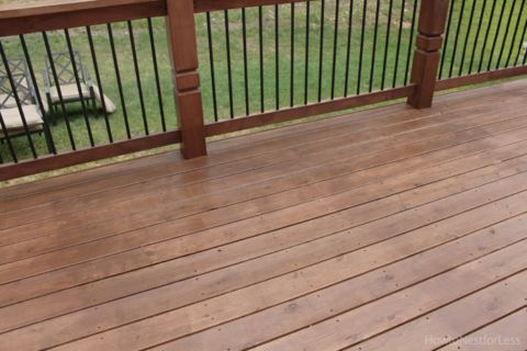 Stained Deck How To Nest For Less Staining Deck Deck Stain