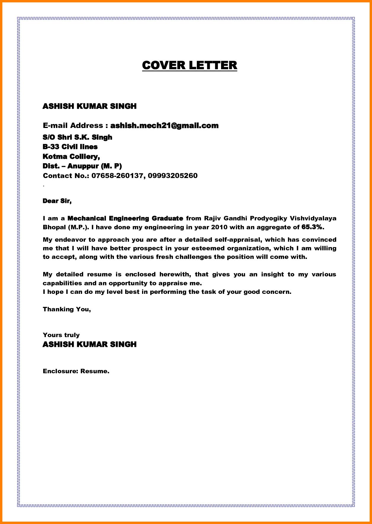 Cover Letter Fresh Graduate Examples Sample University The Best Cover Letter Example Cover Letter For Resume Cover Letter