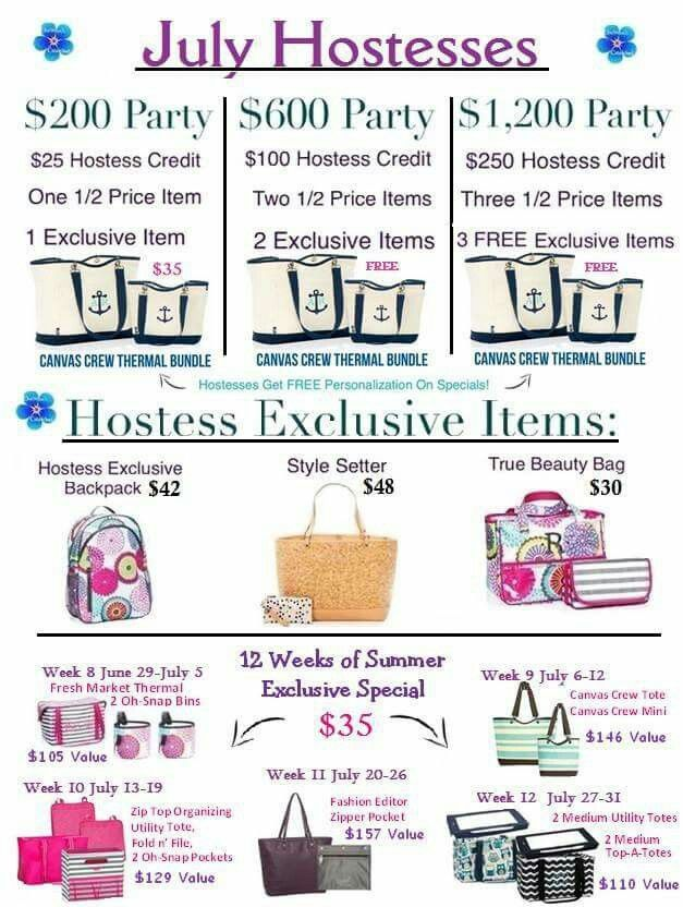 Hostess Exclusives for July.