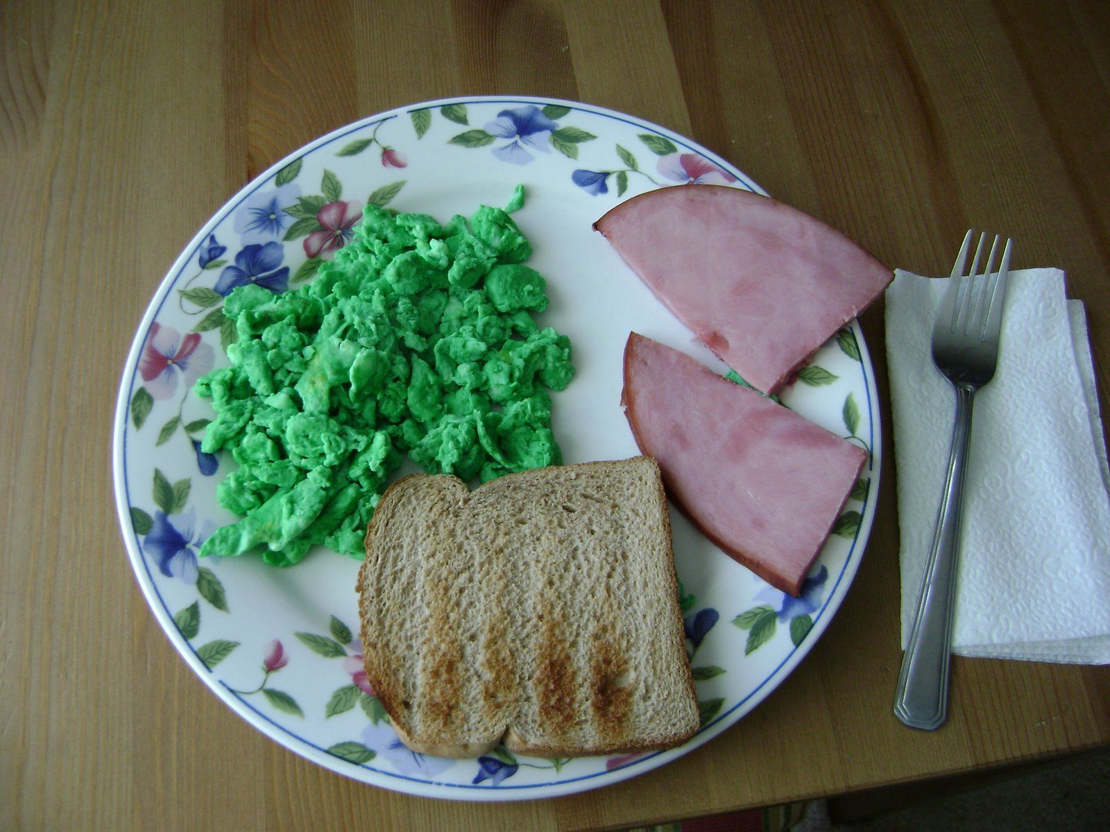 Food Coloring In Scrambled Eggs Ham On The Side