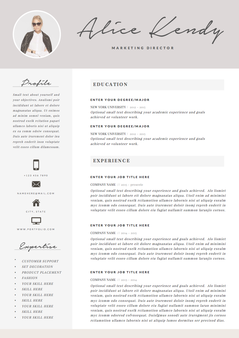 Resume Template 3page Charming By Thesumeutique On