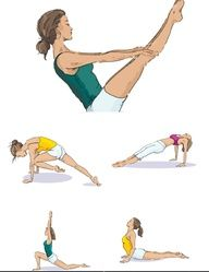 yoga for your abs boat 1 sit with your knees bent feet