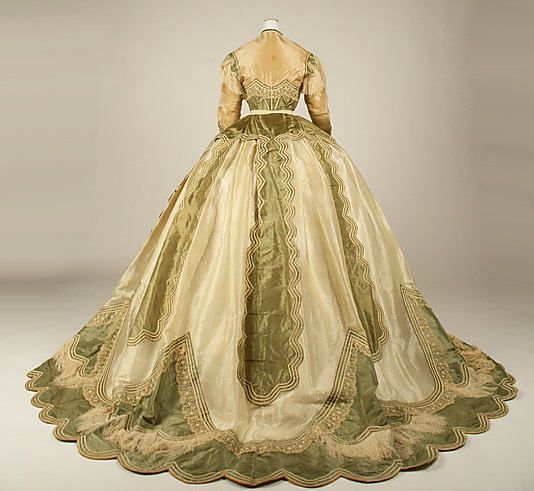 1865 ___ Dress with 2 bodices