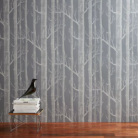 Cole Sons Woods Wallpaper Steel Grey Wood Wallpaper Cole And