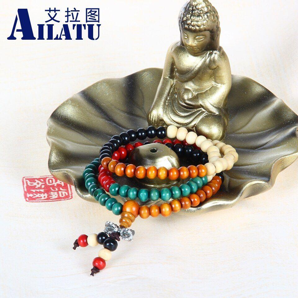 Ailatu 10pcs/lot tibetan rosary jewelry bracelet 6mm 108 prayer mala beads #rosaryjewelry