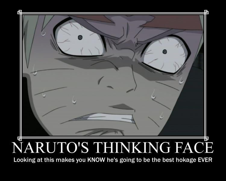 Naruto's Thinking Face. I KNOW RIGHT, BEST HOKAGE EVER