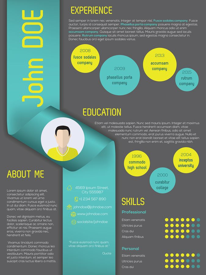 Pin by Heath Morrison on SMAD 201 Visual Resume Design – Visual Resume