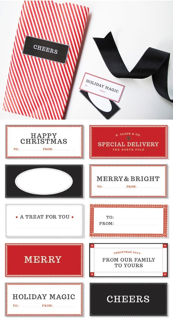 free download - Holiday gift tags for the Tomkat Studio