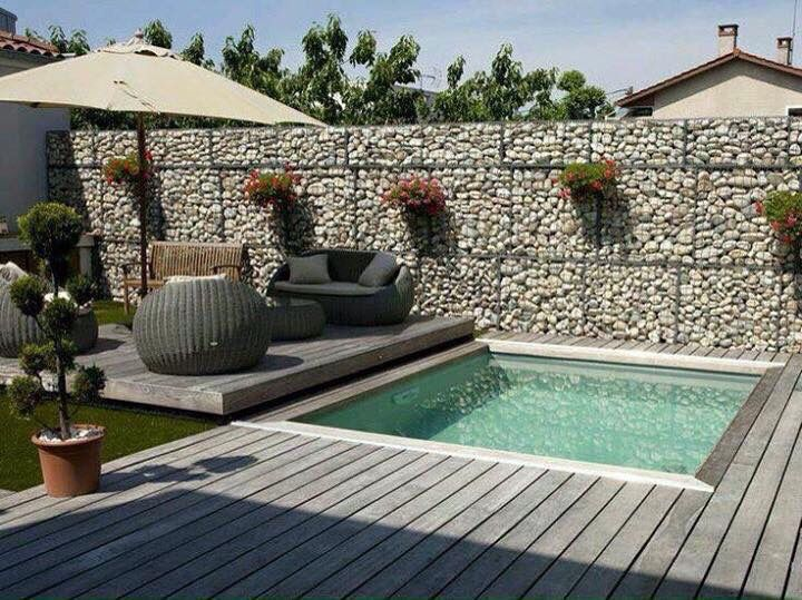 Decorado arm nico pool adjustment pinterest patio for Piscinas pequenas en jardines pequenos