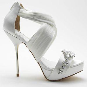 David Tutera Bouquet White Ivory Wedding Shoes