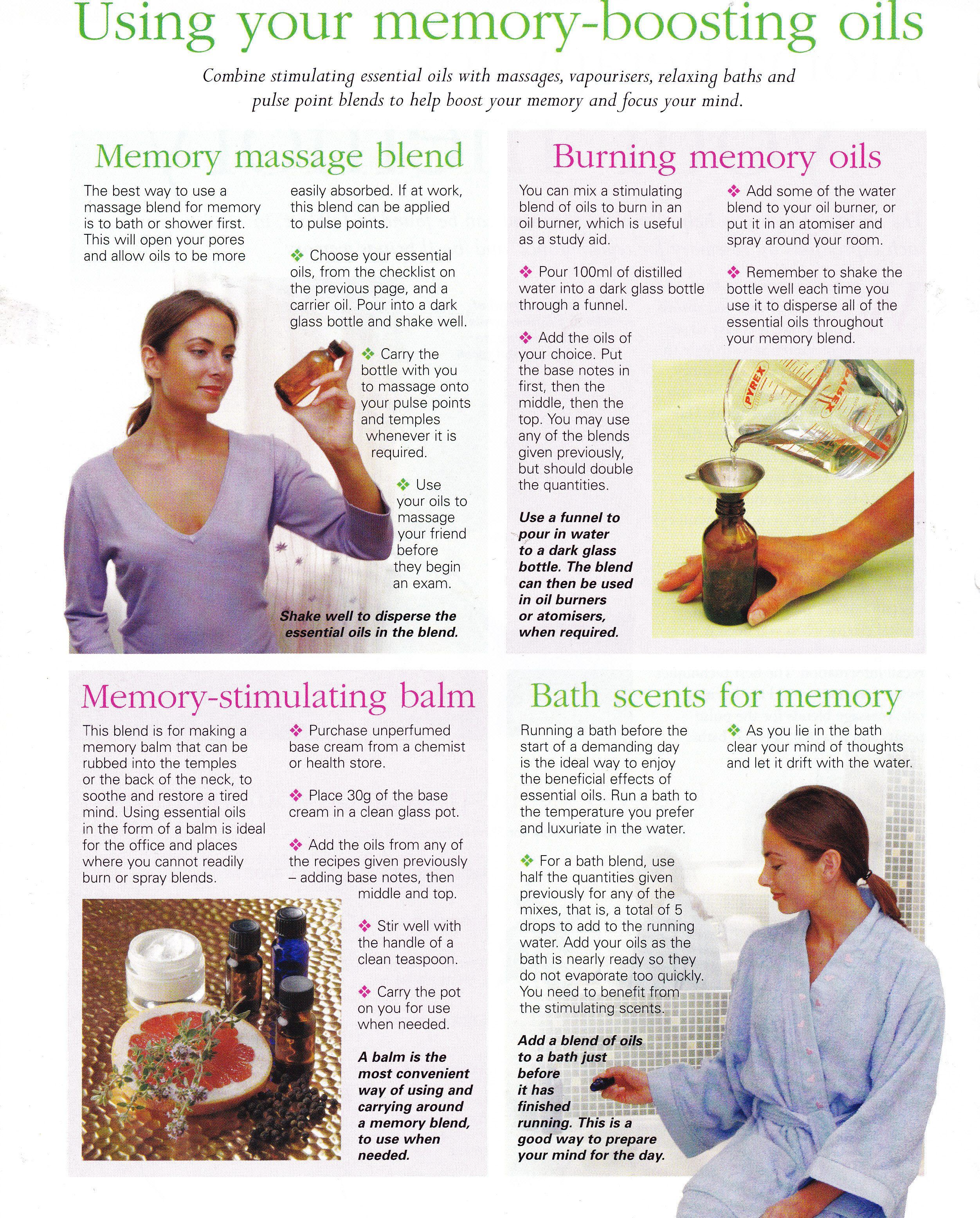 Memory boosting oil