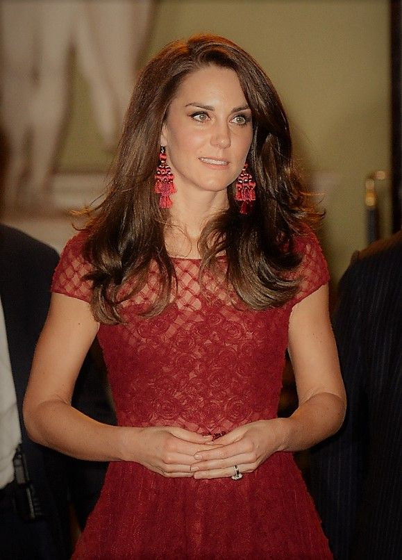 Kate wore Kate Spade's Pretty Poms Tassel Statement Earrings