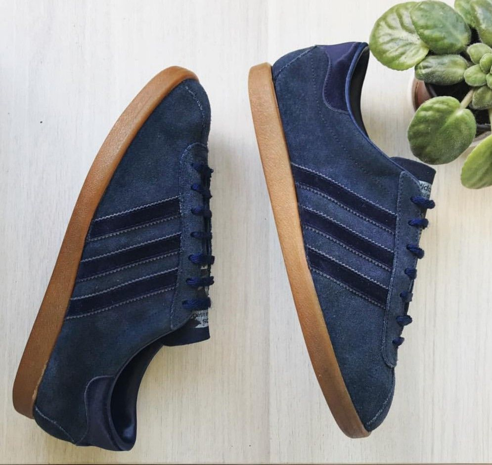 A rarely seen pair of vintage adidas Tobacco, made in