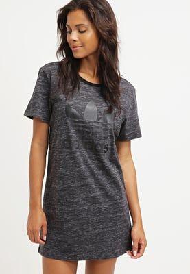 a3565ac704f9 Femme adidas Originals Robe en jersey - dark grey heather gris foncé ...