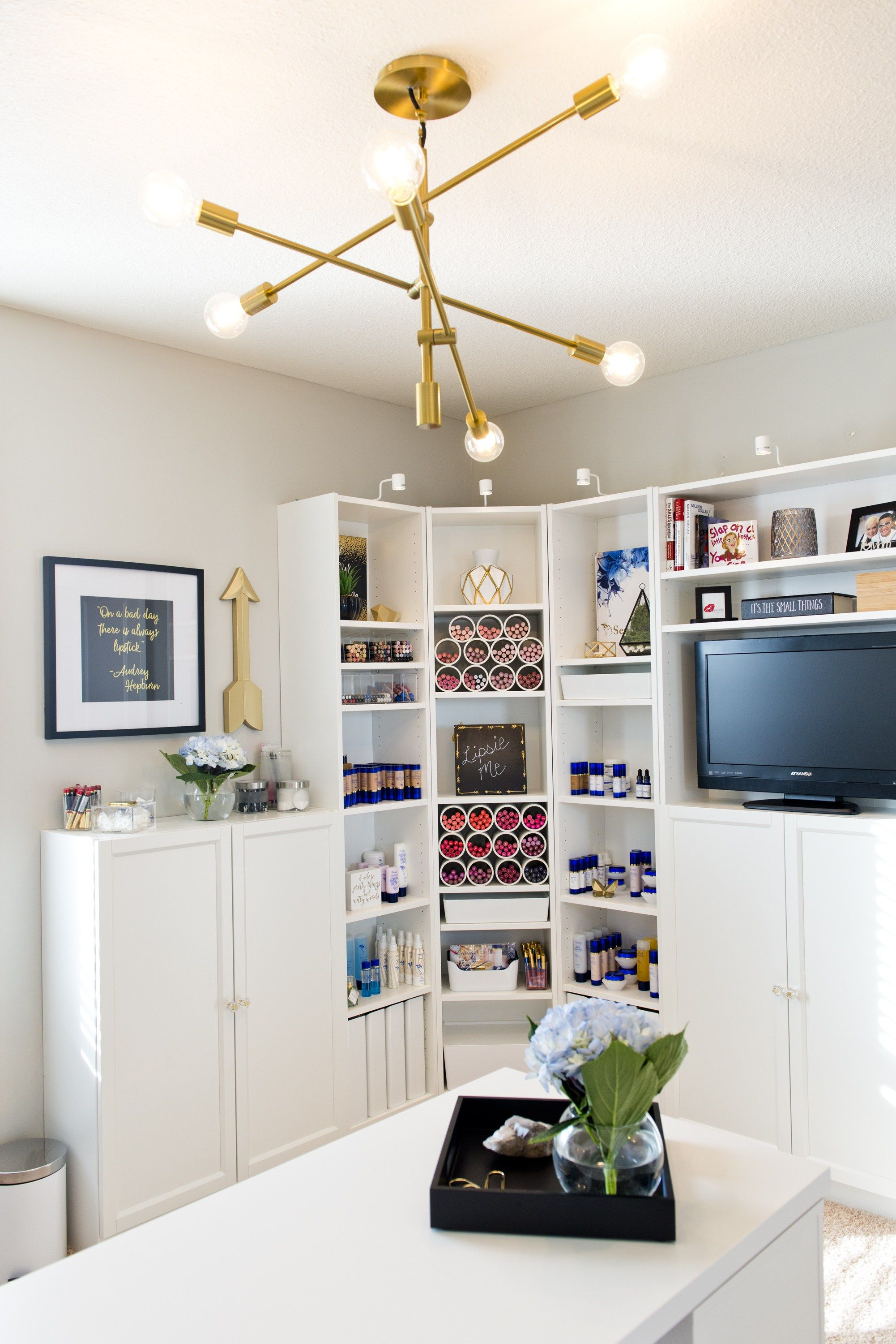 Love this light fixture! Home Office Reveal | Shop this office in ...