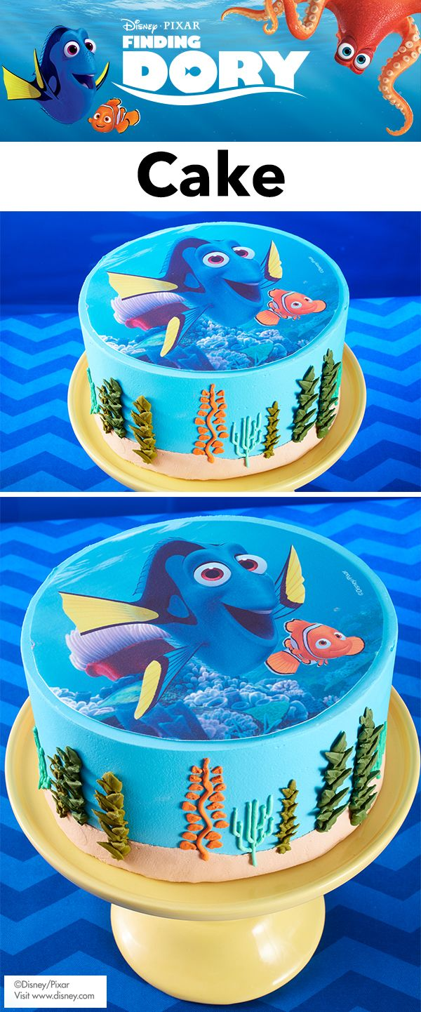 Finding Dory Party Treats Create easy DIY Finding Dory cake