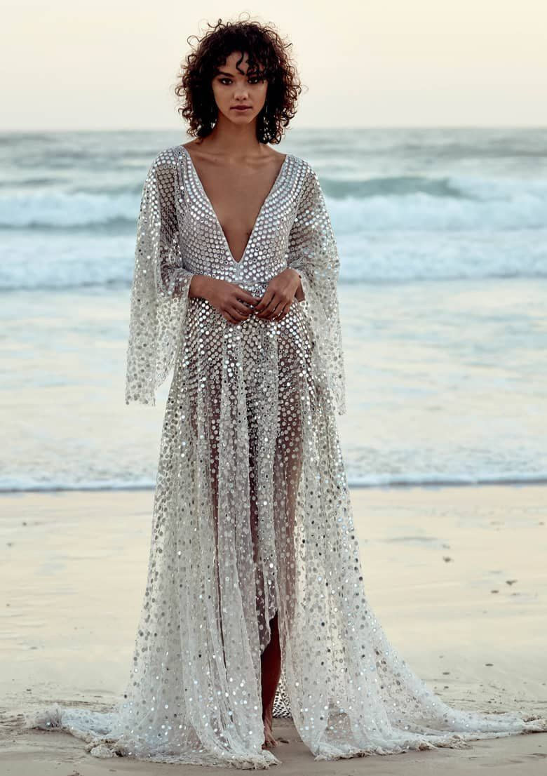Chosen By One Day Toby Sequin High Low Wedding Dress Nordstrom Wedding Dresses High Low Sparkly Wedding Dress Modern Wedding Dress