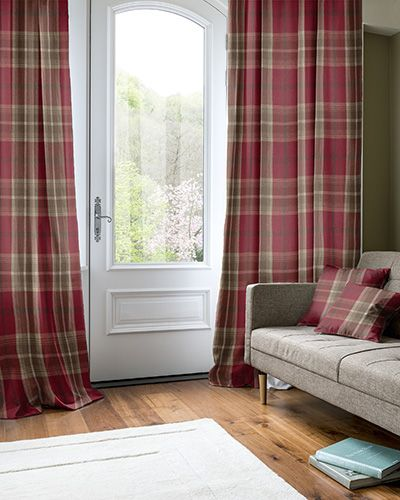 Montgomery Tacna Red Sage Curtains Green Living Dining Room