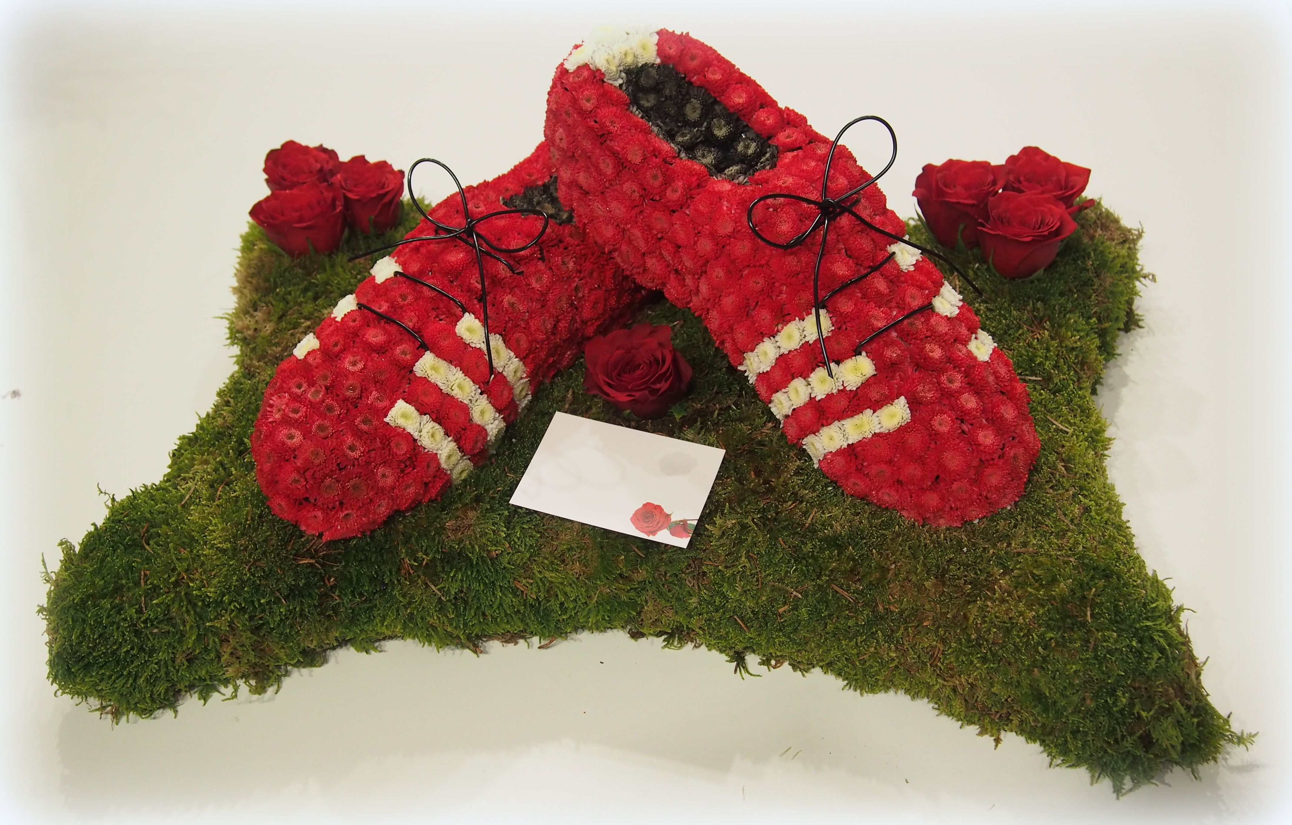 Football boots floral funeral tribute houghton regis florist shop football boots floral funeral tribute houghton regis florist izmirmasajfo