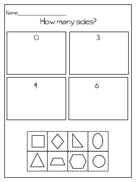 Shape Identification Attributes Freebie Kindergarten Worksheets Shapes Worksheets Kindergarten Worksheets Printable Worksheet shapes grade 2