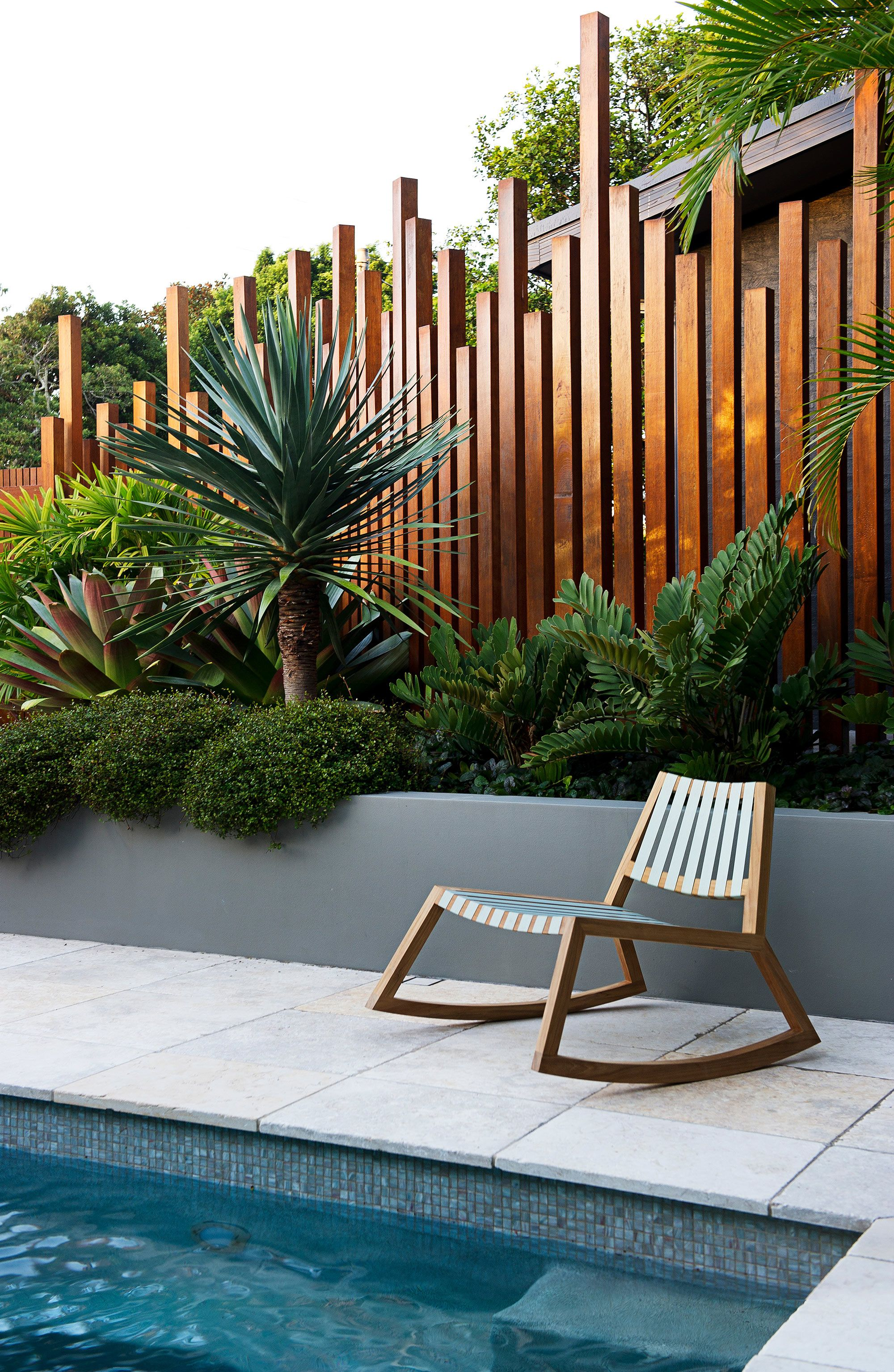 North Avoca Elgata Backyard Landscaping Designs Backyard Landscaping Backyard Design Modern backyard pool landscaping