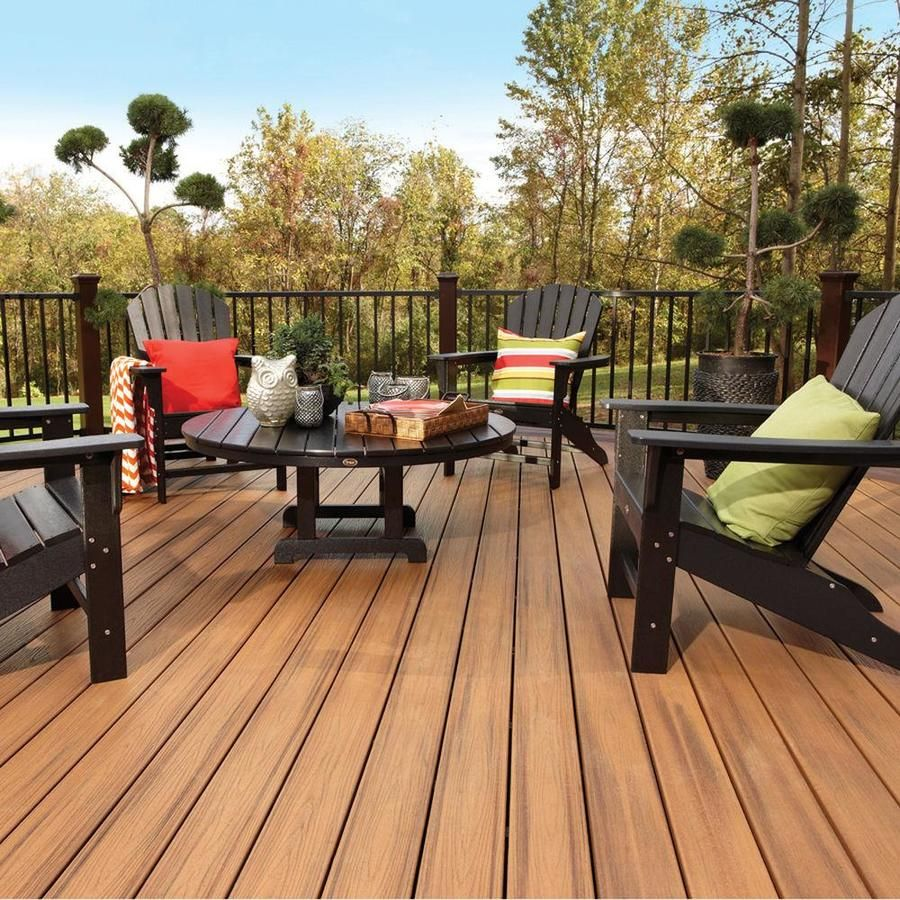 Trex Transcend 12 Ft Tiki Torch Grooved Composite Deck Board Lowes Com Outdoor Deck Furniture Patio Backyard Retreat