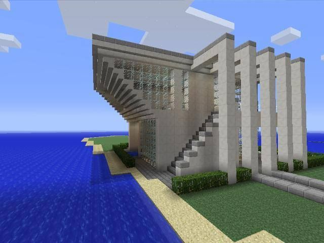 Glass House Minecraft Google Search Minecraft House Designs