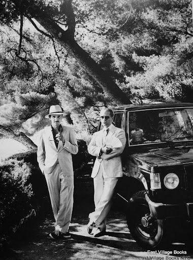 © Helmut Newton. Karl Lagerfeld and Jacques de Bascher, Eze, France, 1985 www.fashion.net