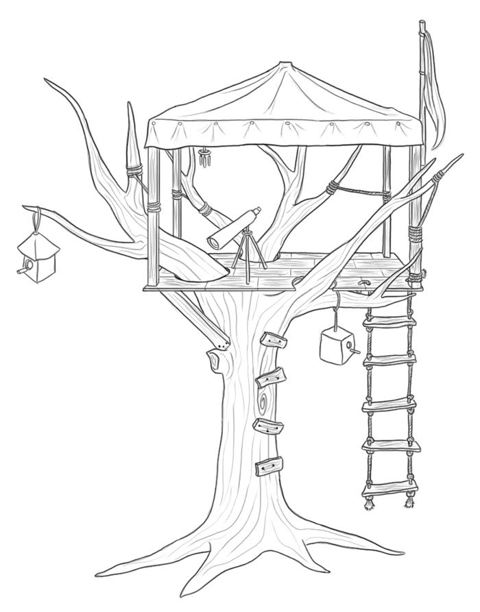 Kids House Drawing: Treehouse Drawing - Google Search