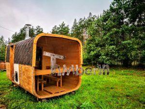 Rectangular Outdoor Garden Wooden Sauna Ireland