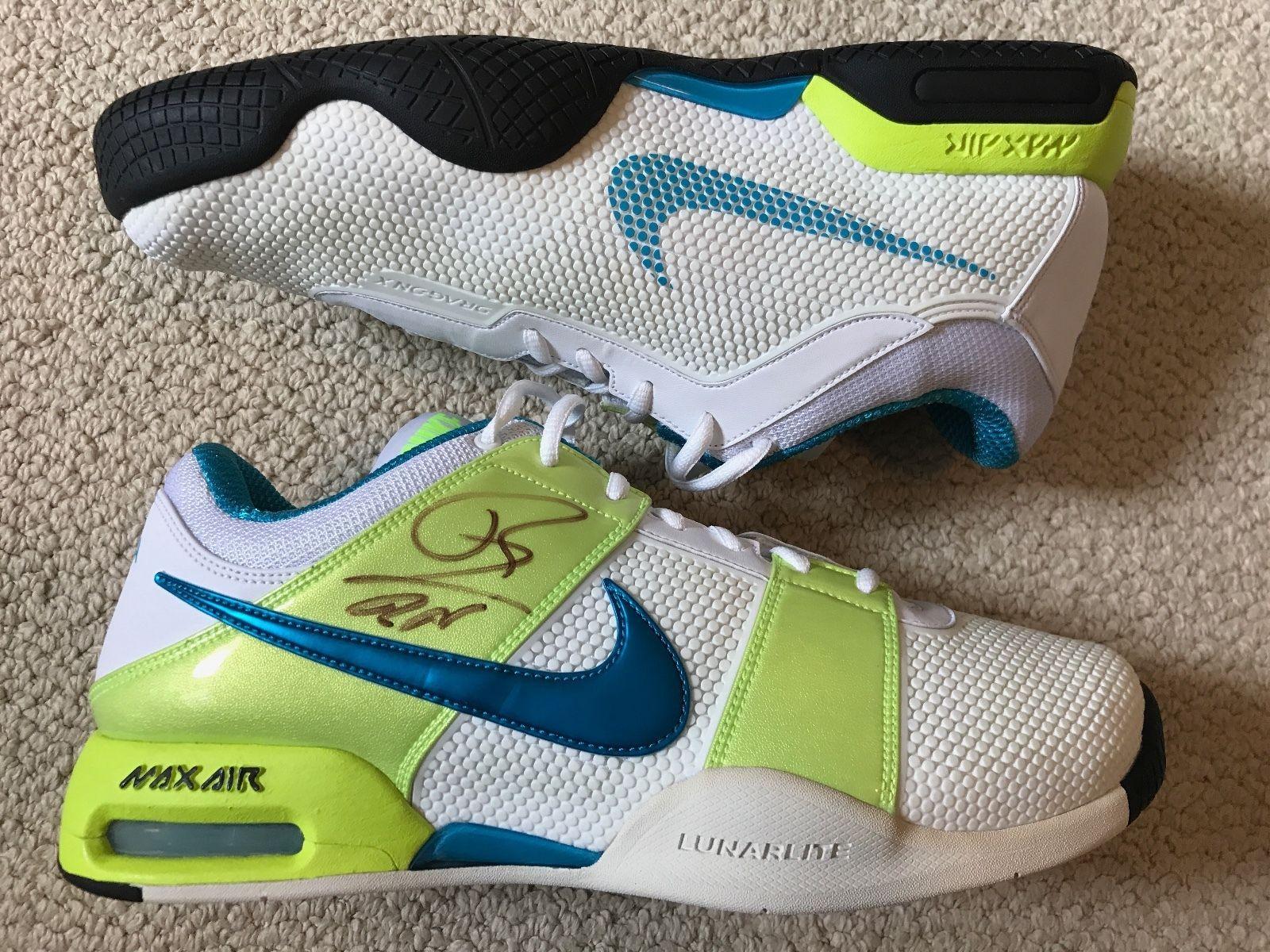 buy popular 869e7 49909 Nike Air Max Courtballistec 1.3 Tennis Shoes 10 Signed Rafael Nadal PSA DNA  AUTH