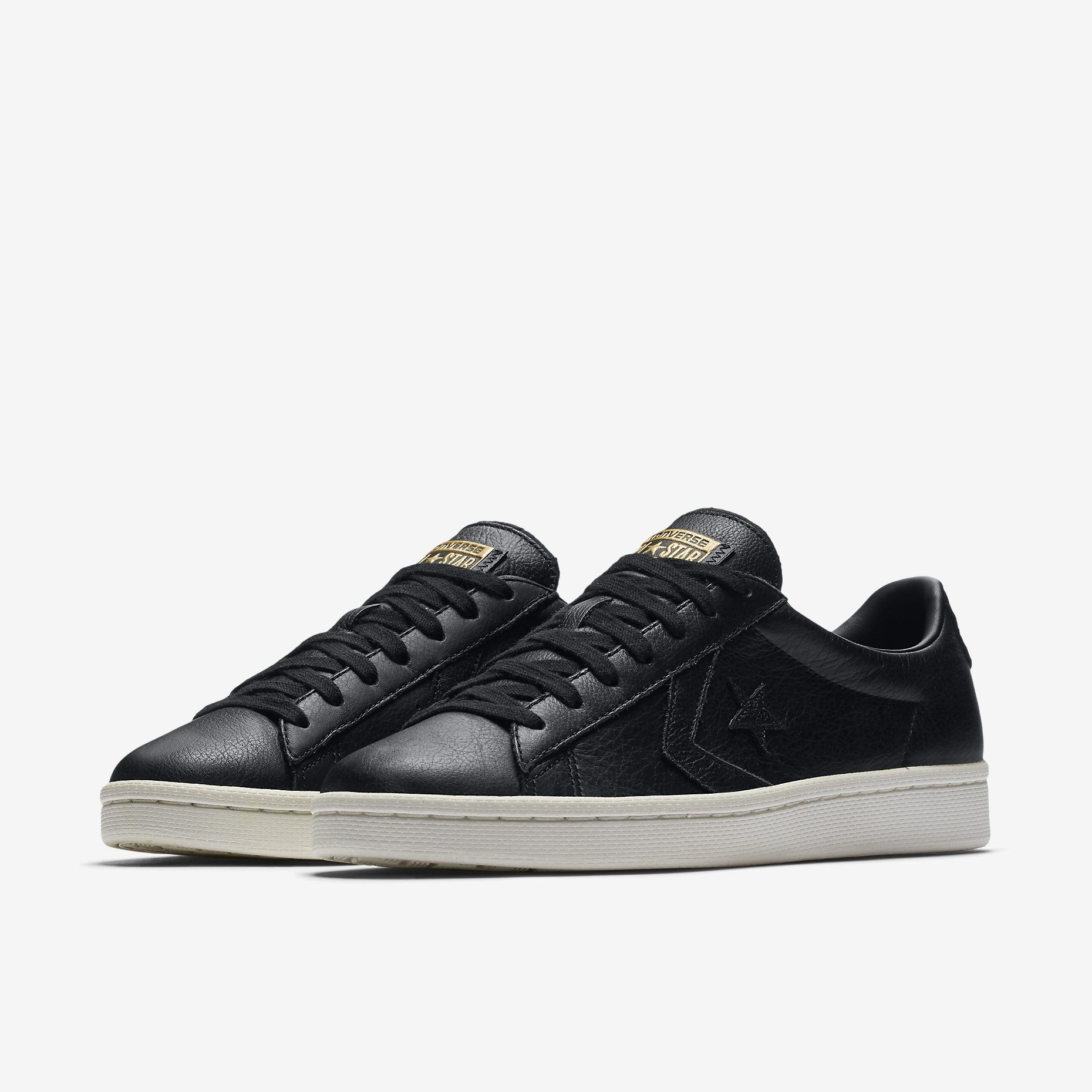 new products cc8d3 c866d Converse Pro Leather Low Top in black via Nike