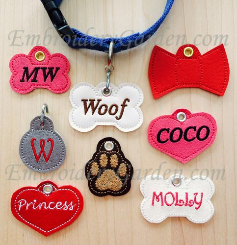 Ith Pet Id Tag Embroidery Design