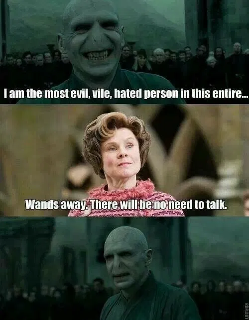 Dolores Umbridge Harry Potter Character Wand Meme Harry Potter Jokes Harry Potter Memes Hilarious Harry Potter Characters