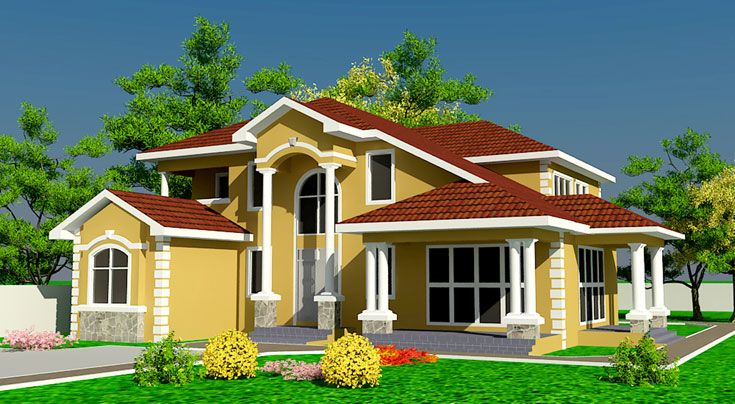 Architectural Designs Africa House Plans Ghana House Plans House Plans Simple House Plans Home Design Plans