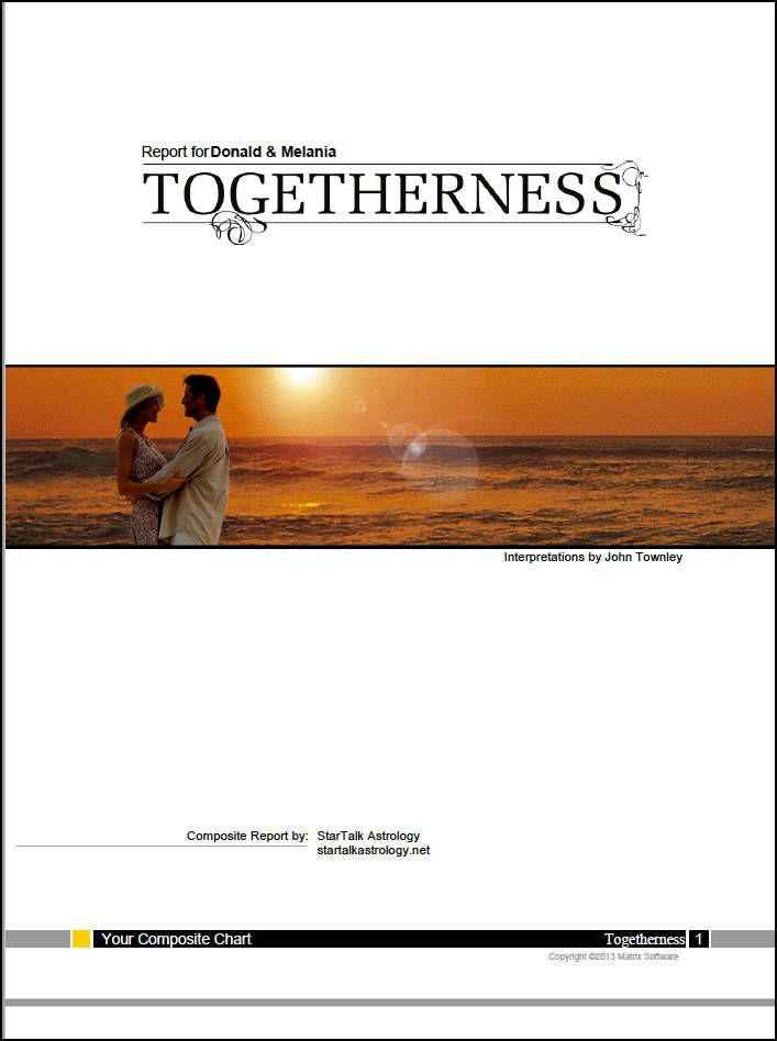 Togetherness Report Compatibility Composite Chart Reading Between 2