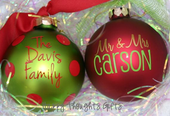 Christmas Ornament - Personalized Christmas Ornament - Monogram Ornament --  4