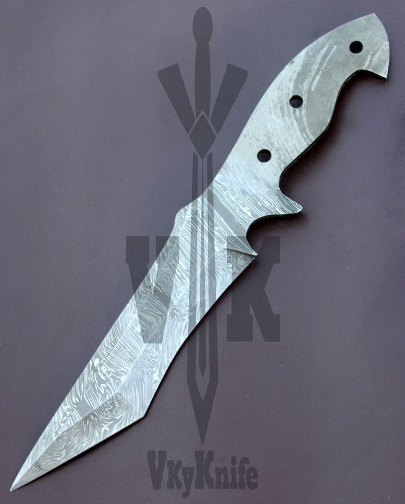 Damascus Skinner Knife Blank Blade Handmade Tanto - 11.00 Inches ...