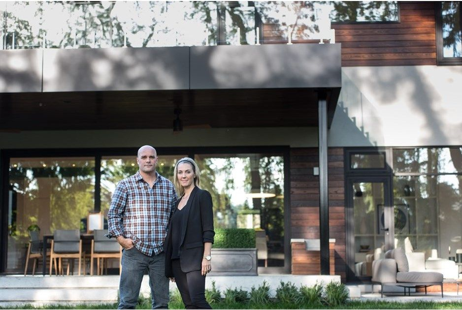 #Bryan & #Sarah #Baeumler #Bryan #Inc reveal #Novawood #thermallymodified #wood #Burlington #Ontario #wood #siding #decking