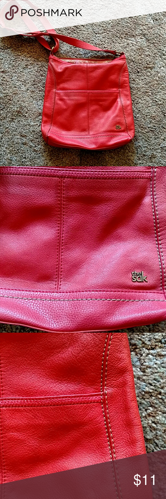 The Sak  purse Gently worn.  Lining has tearing on outer sections Bags Shoulder Bags