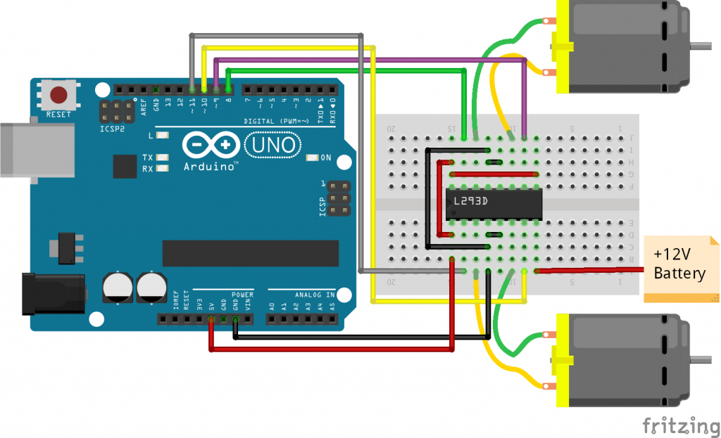 controlling dc motor with arduino is very easy with the help of hcontrolling dc motor with arduino is very easy with the help of h bridge motor driver ic or by l293d arduino motor shield we can also control speed of dc