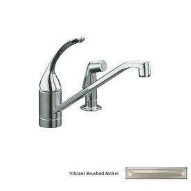 Kohler Coralais Vibrant Brushed Nickel 1-Handle Low-Arc Kitchen Faucet