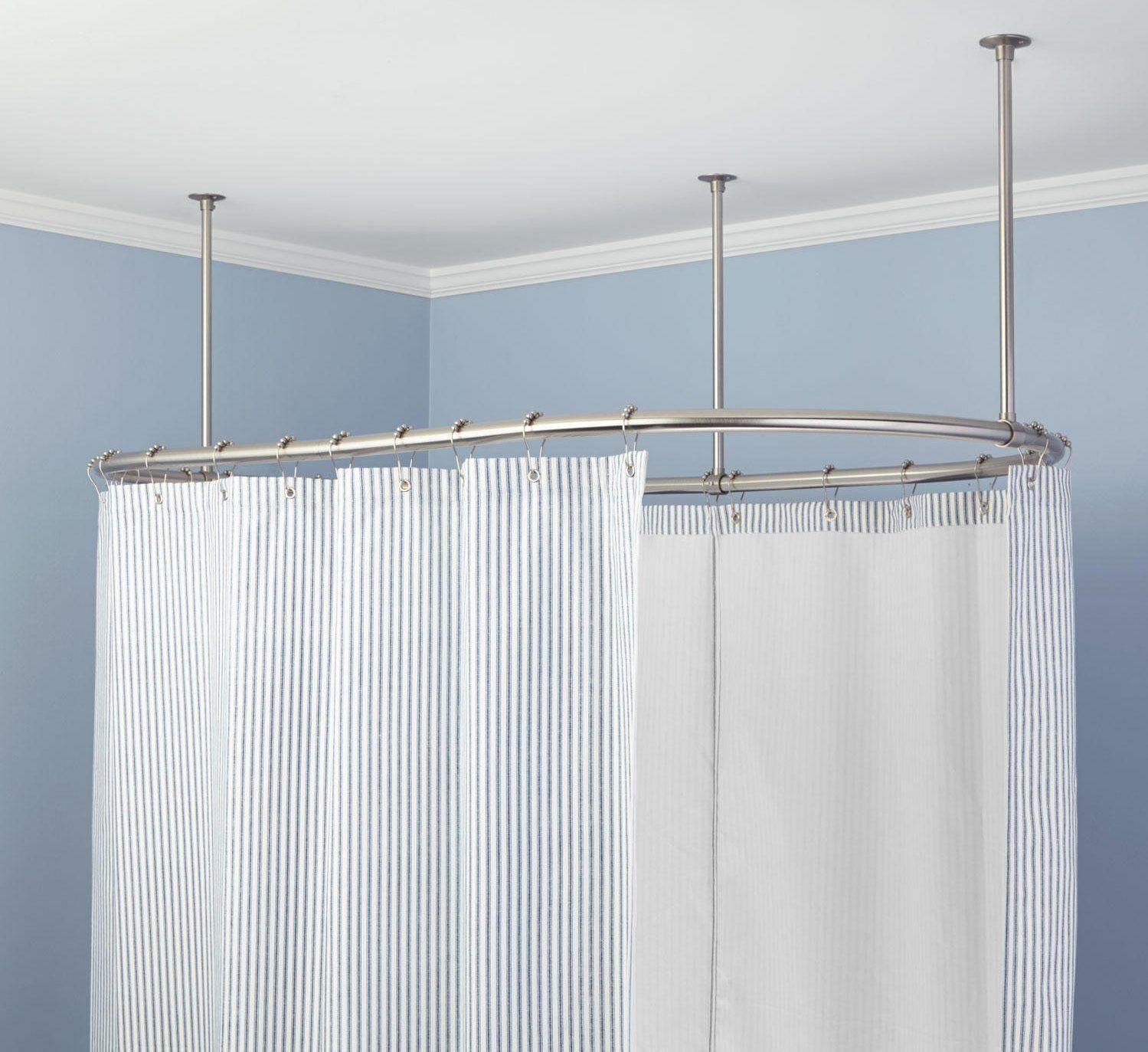Geschwungene Dusche Gardinenstange Fur Dusche Rund Dusche Vorhang