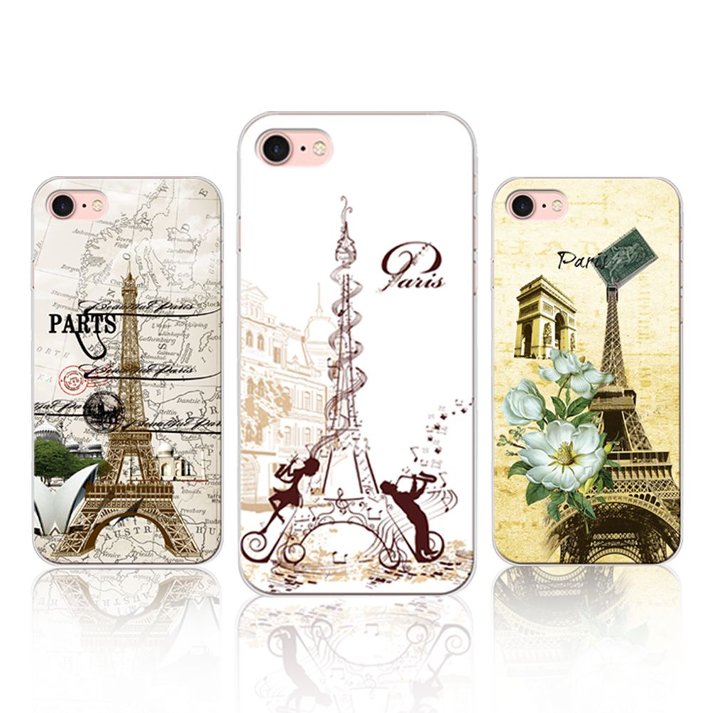Paris Eiffel Tower Phone Case For Apple Iphone 7 7plus 6s 6 6plus 5s Swarovsky Motif 5 5g Cover Transparent Soft Tpu Silicone Pc Hard Price 995 Free Shipping