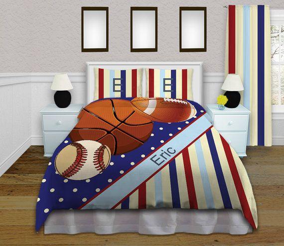 Baseball Boys Sports Bedding Football Comforter Set Mens Etsy Sports Bedding Boy Bedroom Design Boys Bedroom Modern