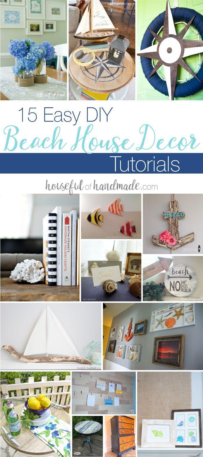 15 Easy Diy Beach House Decor Tutorials Beach Diy Decor