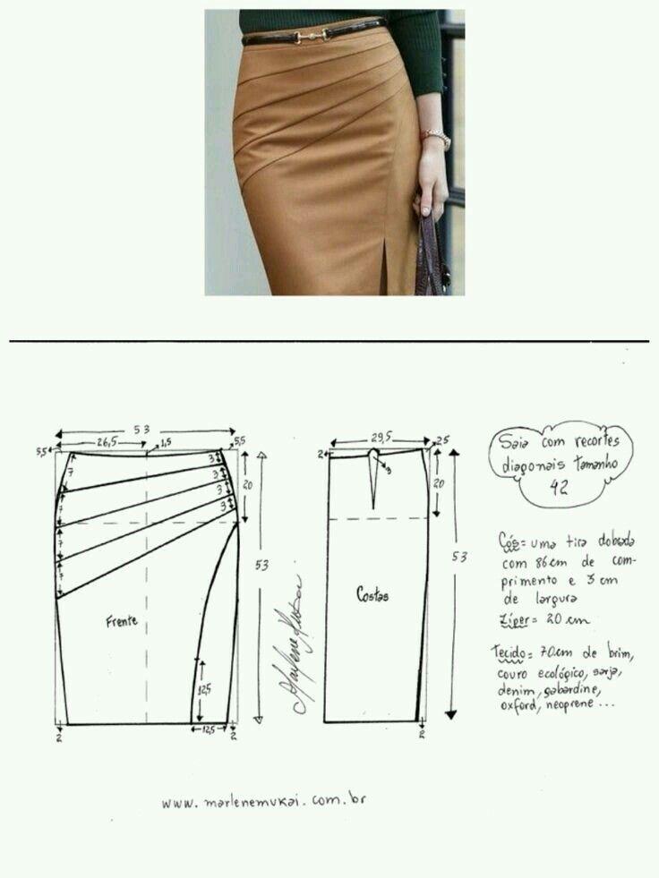 Skirt pattern | sewing - skirt | Pinterest | Nähen