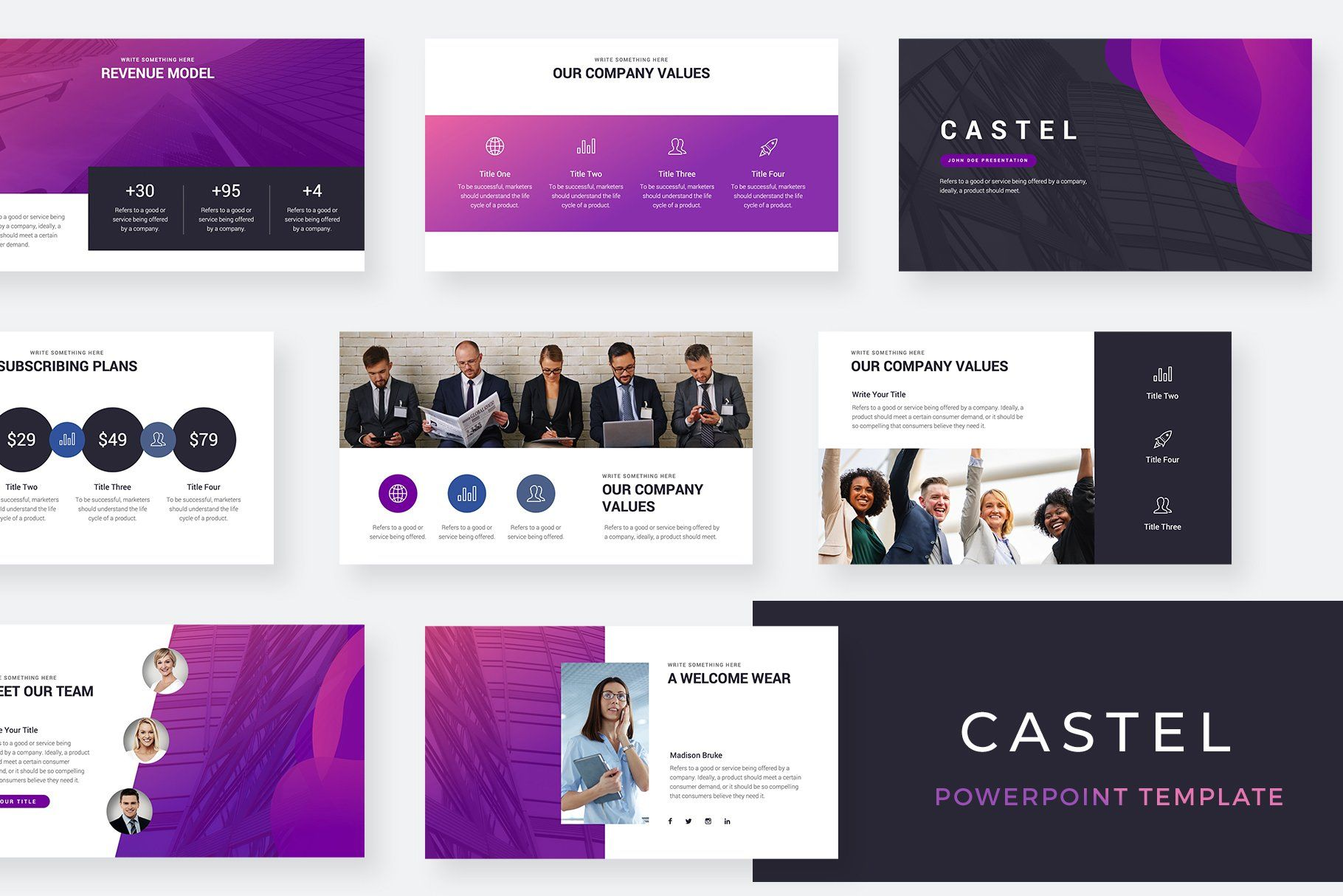 Castel Powerpoint Template By Slidequest On Creativemarket