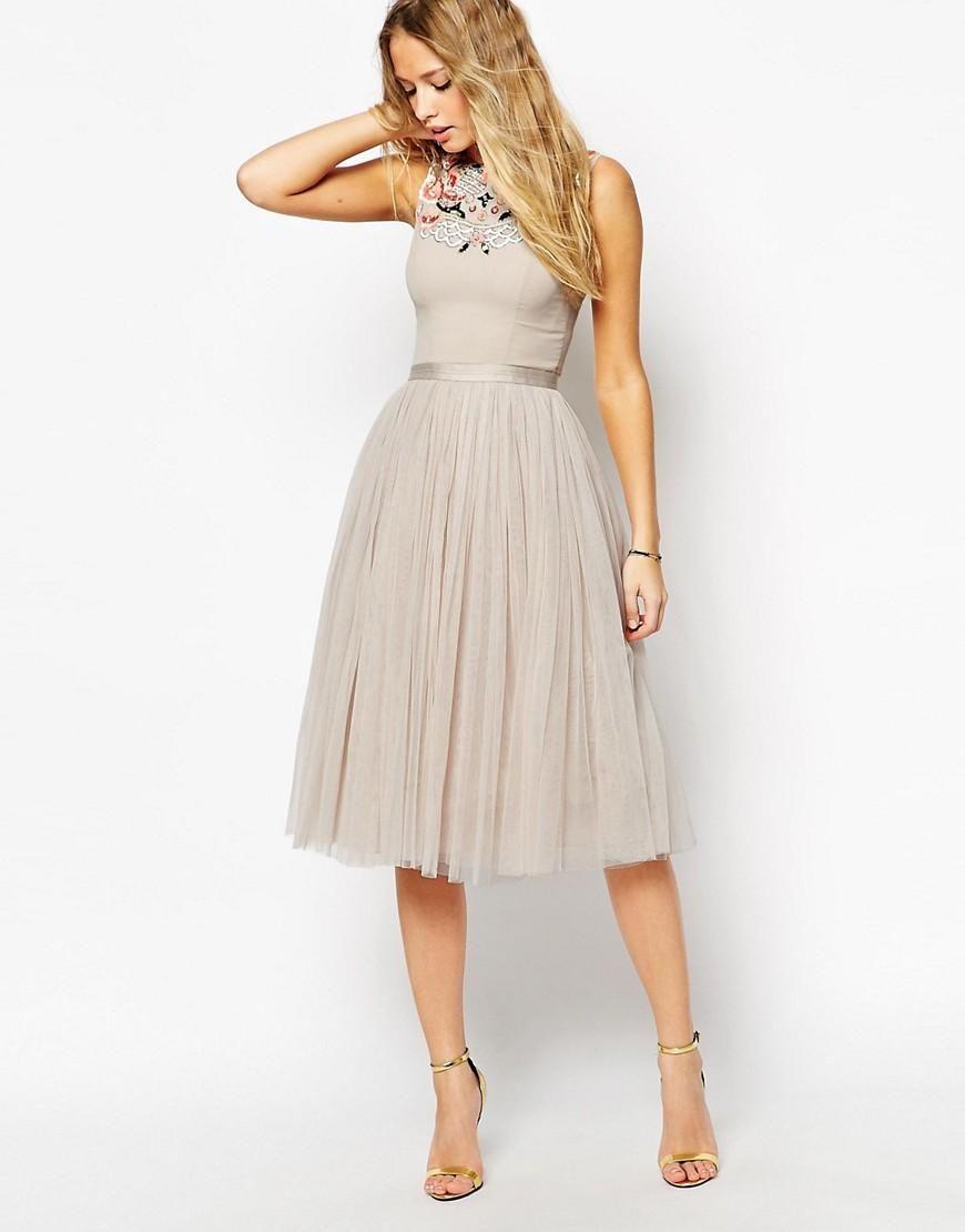 Destination wedding guest dresses  Needle u Thread  Needle u Thread Embellished Folk Prom Midi Dress